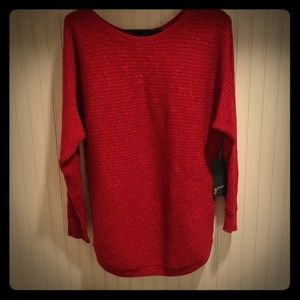 GNW red metallic long sleeve size M sweater
